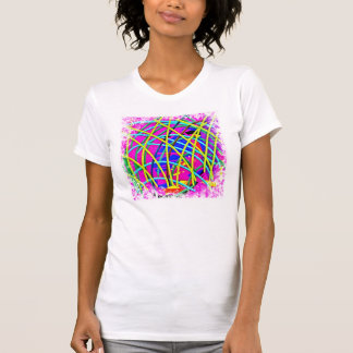 Hot Pink Abstract Girly Doodle Design Novelty Gift Shirts