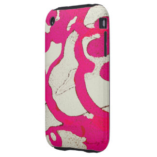 Hot Pink Abstract Tree or Vine Custom iPhone Case Tough iPhone 3 Cover