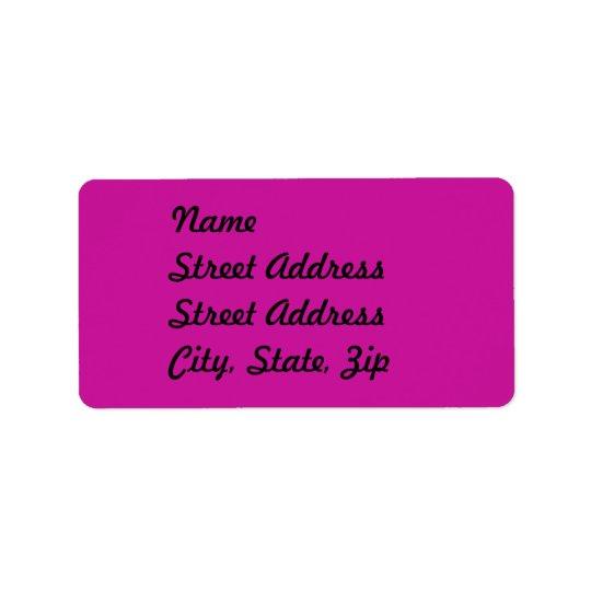 Hot Pink  Address Sticker