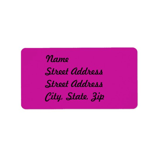 Hot Pink  Address Sticker Address Label