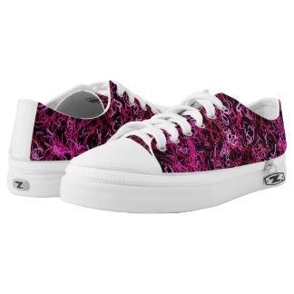 Hot Pink and Black Electric Lines 5078 Low Tops