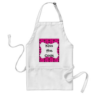 Hot Pink and Black Kitty Cats Collage Standard Apron