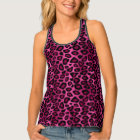 Hot Pink and Black Leopard Print Singlet