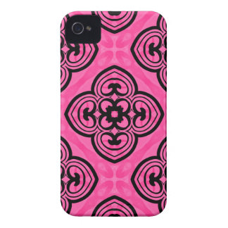 Hot pink and black victorian kaleidoscope decor iPhone 4 case