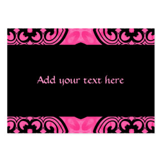 Hot pink and black victorian kaleidoscope decor pack of chubby business cards