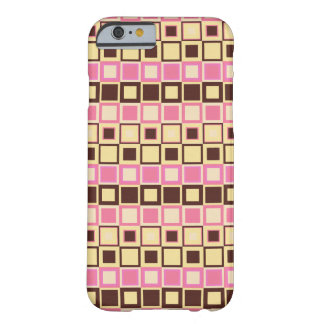 Hot Pink and Chocolate Brown Checkered Pattern Barely There iPhone 6 Case