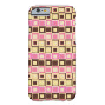 Hot Pink and Chocolate Brown Chequered Pattern