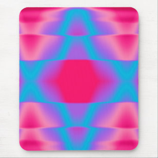 Hot Pink and Cool Blue Mouse Pad