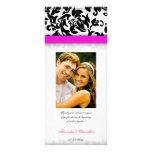 Hot Pink and Damask Delight Wedding Program Rack Card