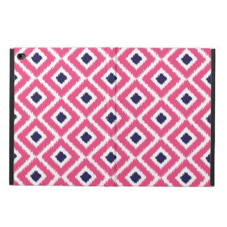 Hot Pink and Navy Ikat Diamonds Powis iPad Air 2 Case