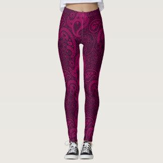 Hot Pink and Paisley Leggings