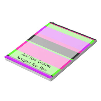 Hot Pink and Purple Tonal Stripes Modern Design Notepad