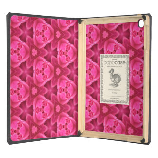 Hot Pink and Red Floral Abstract Rose Pattern iPad Air Cover