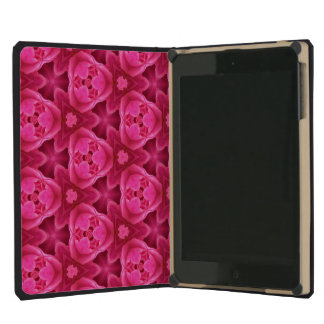 Hot Pink and Red Floral Abstract Rose Pattern iPad Mini Retina Cover