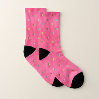 Hot Pink and Silver and Gold Dots 1