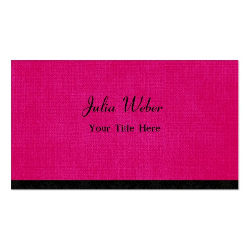 Hot Pink and Simple Business Cards