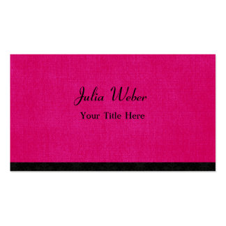 Hot Pink and Simple Pack Of Standard Business Cards