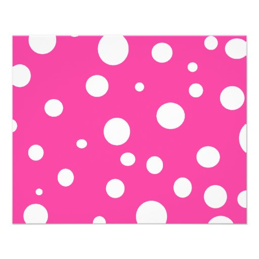 Hot Pink and White Bubbles Polka Dots Fun Full Color Flyer