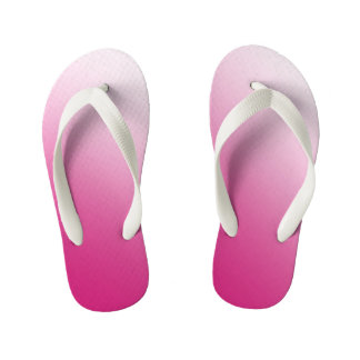 Hot Pink and White Gradient Kid's Thongs