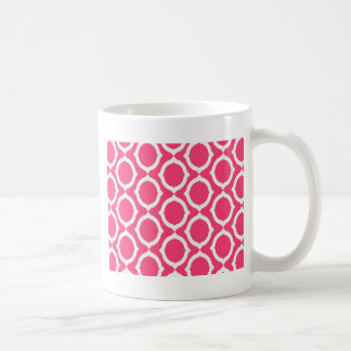 Hot Pink and White Pattern Gifts Coffee Mugs