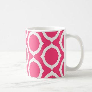 Hot Pink and White Pattern Gifts Mugs