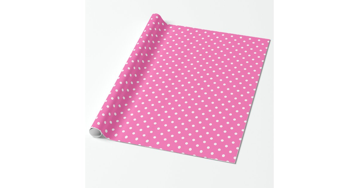 Hot pink and white polka dot pattern zazzle for Red and white polka dot pattern