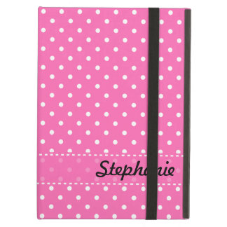 Hot Pink and White Polka Dot Pattern iPad Air Covers