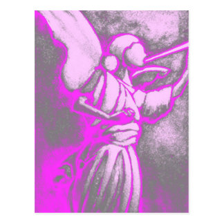 Hot Pink Angel Postcard