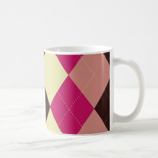 Hot Pink Argyle Mug