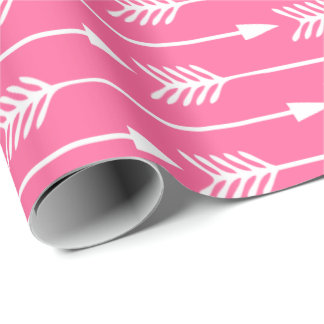 Hot Pink Arrows Pattern Wrapping Paper