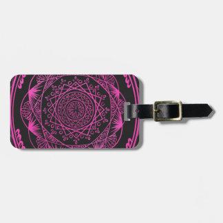 Hot Pink, Awakening zen pattern, healing, chakra Luggage Tag