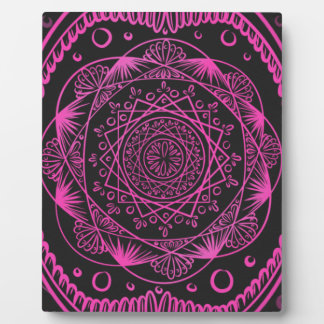 Hot Pink, Awakening zen pattern, healing, chakra Plaque