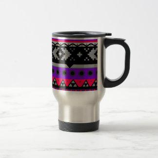 hot pink aztec pattern mug
