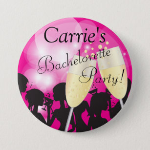 Hot Pink - Bachelorette Diva Girls Night Out 7.5 Cm Round Badge