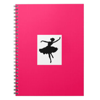 Hot Pink Ballerina Notebook