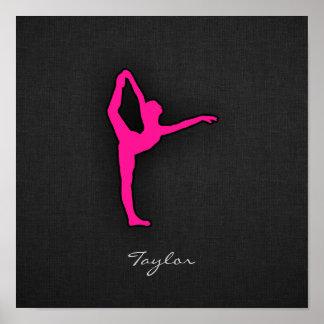 Hot Pink Ballet Dancer Posters