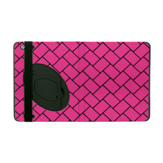 Hot Pink Basket Weave 2 iPad Cover