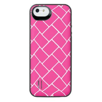 Hot Pink Basket Weave iPhone SE/5/5s Battery Case