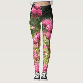 Hot Pink Bee Balm Leggings