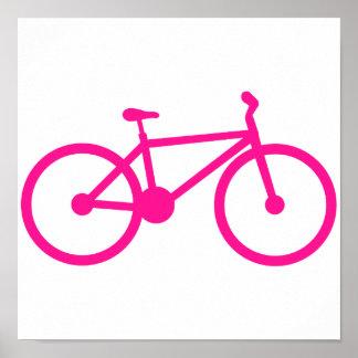Hot Pink Bicycle; bike Poster