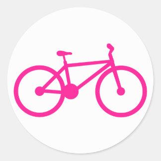 Hot Pink Bicycle; bike Round Sticker