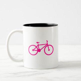 Hot Pink Bicycle; bike Two-Tone Mug