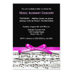 Hot Pink Black and white music recital concert Personalised Announcement