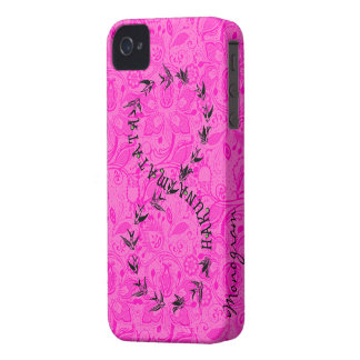 Hot Pink & Black Hakuna Matata Infinity Symbol Case-Mate iPhone 4 Case