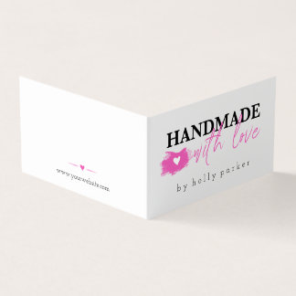 Hot Pink & Black - Handmade with Love Card
