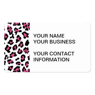 Hot Pink Black Leopard Animal Print Pattern Pack Of Standard Business Cards