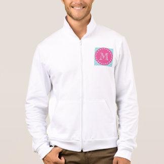 Hot Pink, Blue Chevron   Your Monogram Jacket