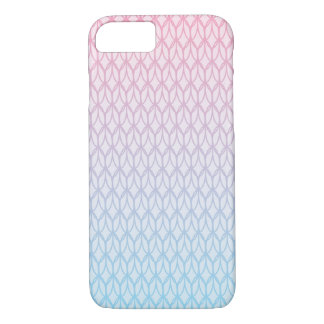 Hot Pink Blue Gradient Oval Pattern iPhone 8/7 Case