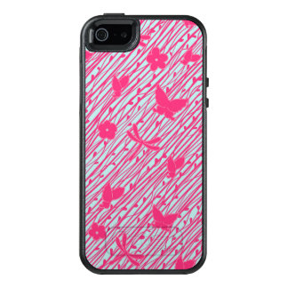 Hot Pink Boho-Chic Floral Dragonfly Nature Pattern OtterBox iPhone 5/5s/SE Case