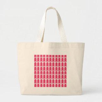 Hot Pink Bordered Fence Panel Jumbo Tote Bag